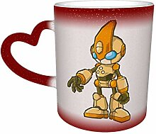 DJNGN Kreative Verfärbung Kaffeebecher The World