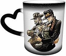 DJNGN Kreative Verfärbung Kaffeetasse Kujo Jotaro