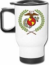 DJNGN MugGlobe USMC Marine Corps Edelstahl