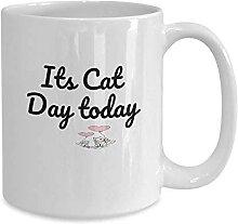 DJNGN Sein Katzentag heute Kaffee oder Teebecher