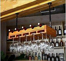 DJSMjbj Europäisches Massivholz Weinregal Bar