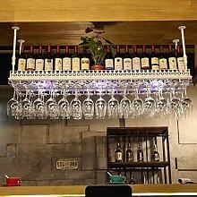 DJSMjbj Hanging Wine Rack Bar Goblet Halterung