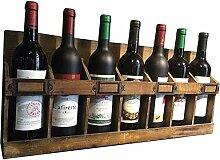 DJSMjbj LOFT Retro Wandregal für 7 Flaschen