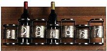 DJSMjbj Loft Retro Weinregal 7 Flaschen Weinregal