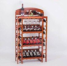 DJSMjbj Storage Rack Weinregal aus Holz Ständer