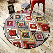 DK-CJBYC &Dekorativer Teppich Runde teppiche