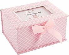 """DKDS Collection Baby Erinnerungsbox """"Prinzessin"""", Geschenk zur Geburt oder Taufe, rosa"""