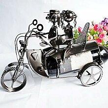 Dkee-Weinregale Paar Motorrad Wein Weinregal Metal