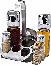 DKEyinx 5 Stücke Küche Glas Gewürzgläser Set,