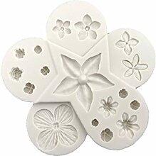 DKEyinx Blume Blatt Backform Kuchenform, 10.5cm x