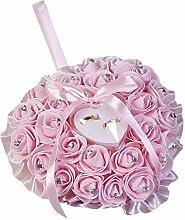 DKFS Künstliche Blumen Herzförmige Rose Blume