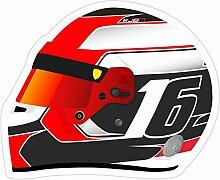 DKISEE 3 Stück Aufkleber Charles Leclerc Ferrari