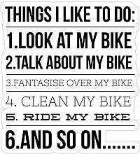 DKISEE 3 Stück Aufkleber Fahrrad Aufkleber für