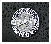 DKISEE 3 Stück Aufkleber Mercedes Benz Auto Logo