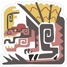 DKISEE 3 Stück Aufkleber Monster Hunter World –