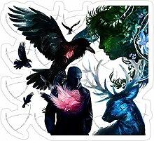 DKISEE 3 Stück Aufkleber The Raven