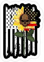 DKISEE 3 Stück Aufkleber Totenkopf Flagge Amerika