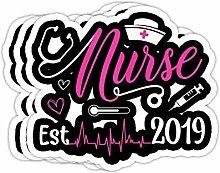 DKISEE Aufkleber für Damen, Krankenschwester Est