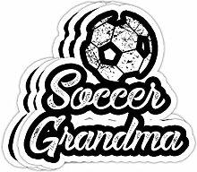 DKISEE Aufkleber für Fußball-Oma, niedlicher
