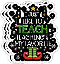 DKISEE Aufkleber für Lehrer, Elf, Weihnachten, I