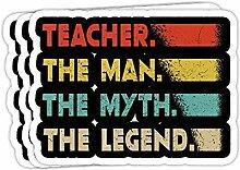 DKISEE Aufkleber für Lehrer, The Man The Myth,