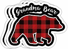 DKISEE Aufkleber für Oma-Bär, für Frauen, rotes