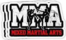 DKISEE Aufkleber für Stoßstange, MMA Kickboxin