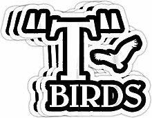 DKISEE Aufkleber für Stoßstange, Motiv: Vögel,
