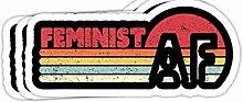 DKISEE Aufkleber für Stoßstangen, Feminist AF