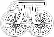 DKISEE Aufkleber, lustige Fahrrad-Aufkleber, 10,2