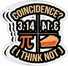 DKISEE Aufkleber mit lustigem Pi-Day Coincidence I