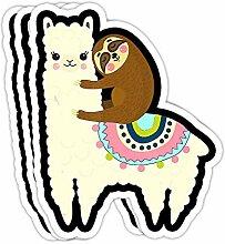DKISEE Aufkleber mit süßem Lama- und Faultier,