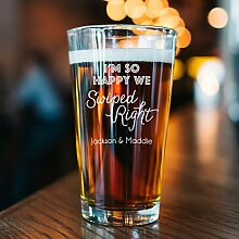 """Dkisee Bierglas mit Gravur """"Brother Promoted to"""
