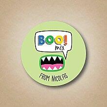 DKISEE Boo Mix Custom Halloween-Aufkleber