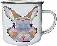 DKISEE Enamel Camping Mug Polygonal Rabbit