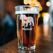 Dkisee Golden Retriever Pint-Glas, Geschenk für