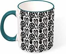 Dkisee Kaffeebecher Tee Tasse Line Love Flower