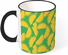 DKISEE Kaffeetasse mit Gänseblümchen-Motiv,