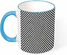 DKISEE Kaffeetasse mit schwarzem und weißem