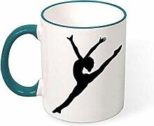 DKISEE Kaffeetasse mit tanzender Silhouette,