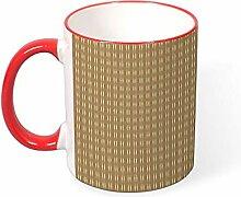 DKISEE Kaffeetasse mit Wellenmuster, Kaffeebecher