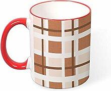 DKISEE Kaffeetasse Tee Tasse braun quadratisch