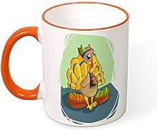 DKISEE Kaffeetasse Tee Tasse Cool Indian Truthahn
