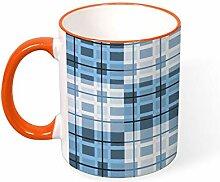 DKISEE Kaffeetasse Tee Tasse einfache blau