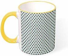 DKISEE Kaffeetasse Tee Tasse kleine Gitter