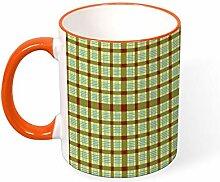 DKISEE Kaffeetasse Tee Tasse Linie Schärpe