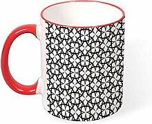DKISEE Kaffeetasse Tee Tasse Ornament Kaffeetassen