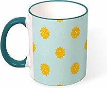 DKISEE Kaffeetasse Tee Tasse Sonne Blau Himmel