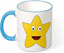 DKISEE Kaffeetasse Tee Tasse Stern Kaffeetassen