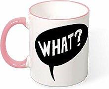 DKISEE Kaffeetasse Tee Tasse What Coffee Mugs